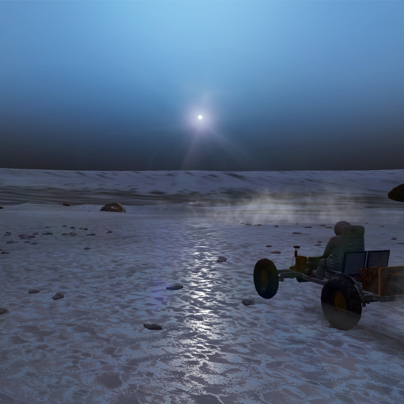 Blue sunset on Mars in VR experience from SciencePlanet.com